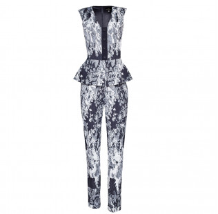 Jumpsuit with peplum small - 1