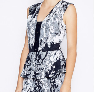 Jumpsuit with peplum small - 2