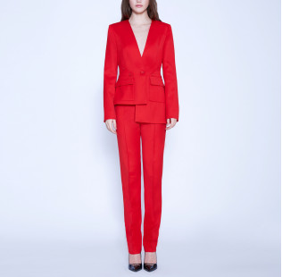 Asymmetric suit with buttons small - 6