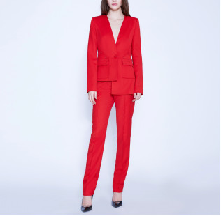 Asymmetric suit with buttons small - 5