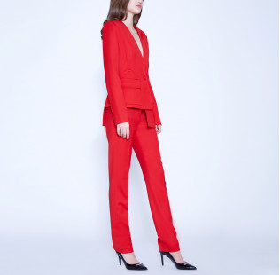 Asymmetric suit with buttons small - 4