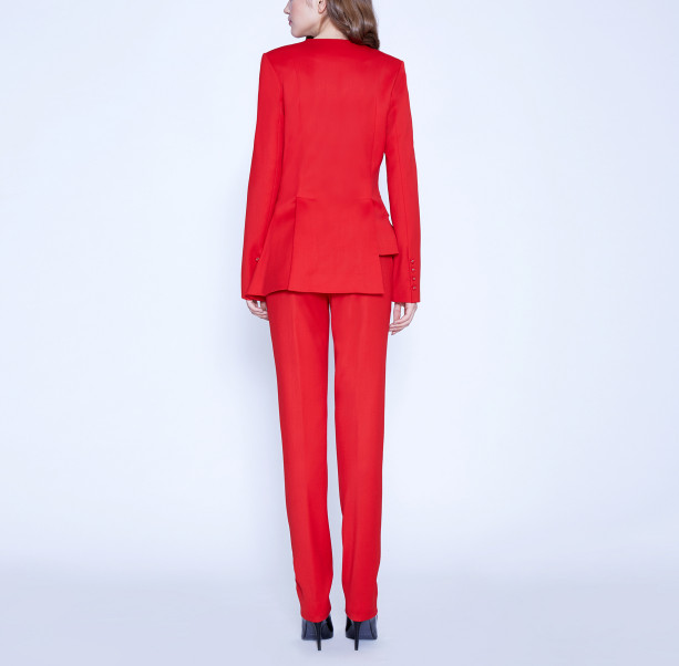 Asymmetric suit with buttons - 3