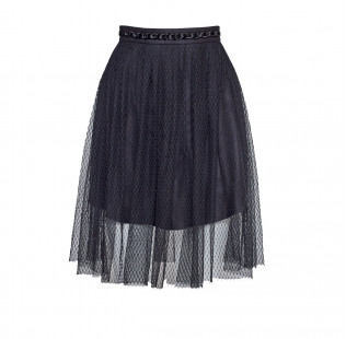 Pleated skirt with chain small - 1