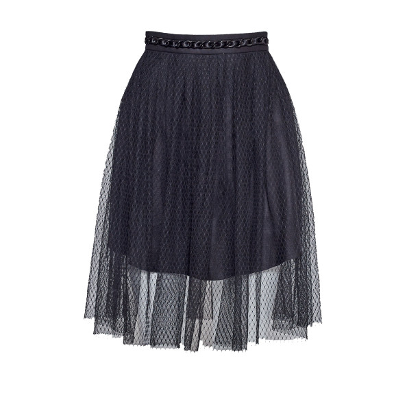 Pleated skirt with chain - 1
