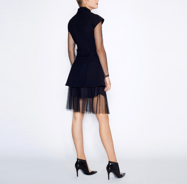 Pleated skirt with chain - 3