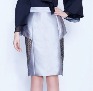 Skirt with lace triangle  small - 2