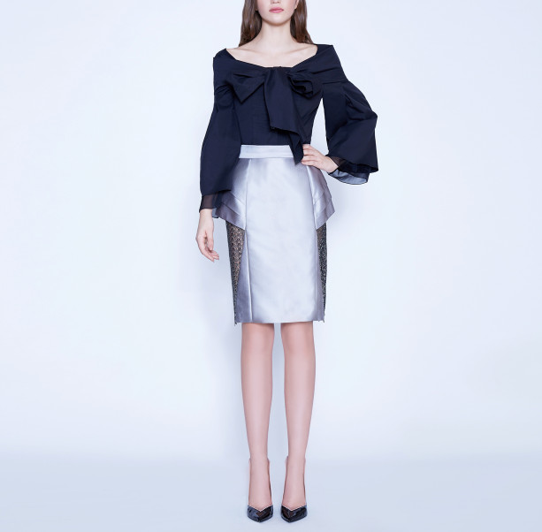 Skirt with lace triangle  - 5