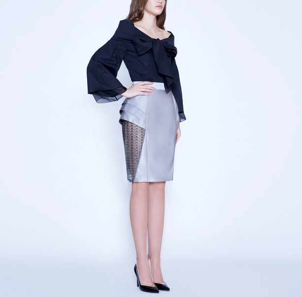 Skirt with lace triangle  - 4