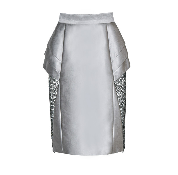Skirt with lace triangle  - 1